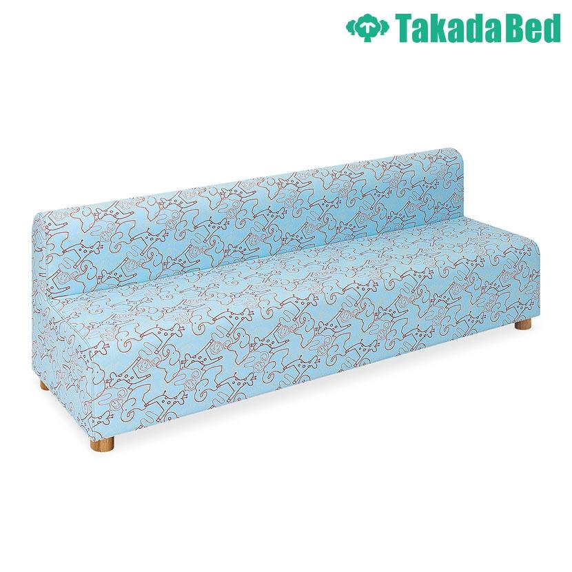 高田ベッド ソファー・チェア TB-815-03 パークベンチ(03) パークレザー動物柄 かわいい 低床タイプ サイズ/カラー(3色)選択可能