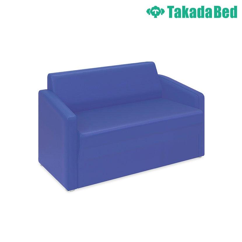 高田ベッド ソファー・チェア TB-821-02 ロビーMD(02) 傾斜背もたれで安定感抜群 座部スリット加工 両肘掛け仕様 サイズ/カラー(18色)選択可能