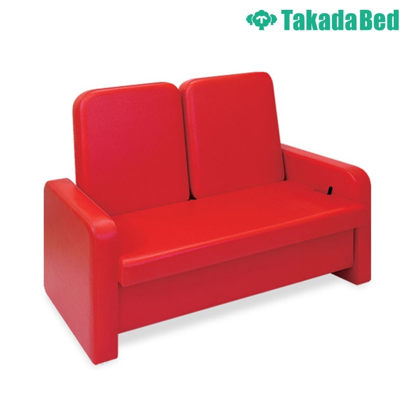 高田ベッド ソファー・チェア TB-871-01 リクライソファー(二人掛) 待合室 リラックス リクライニング機能搭載 ガスシリンダー式角度調節 カラー(18色)選択可能
