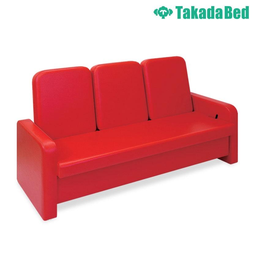 高田ベッド ソファー・チェア TB-871-02 リクライソファー(三人掛) 待合室 リラックス リクライニング機能搭載 ガスシリンダー式角度調節 カラー(18色)選択可能