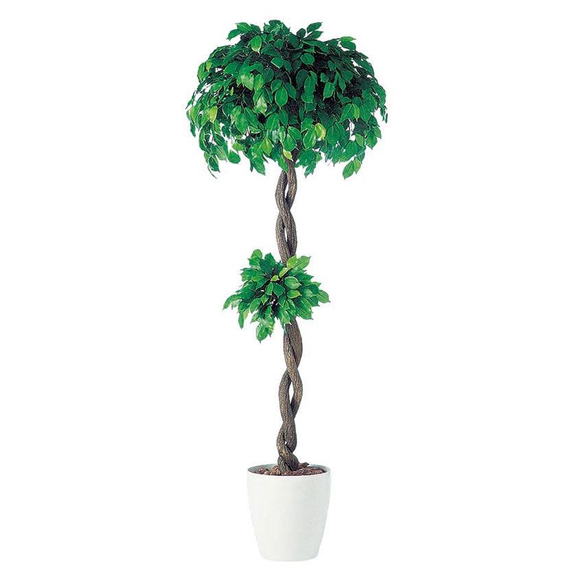 観葉植物 人工 樹木 フィッカスベンジャミナダブル 高さ1800mm Lサイズ 鉢:RP-300