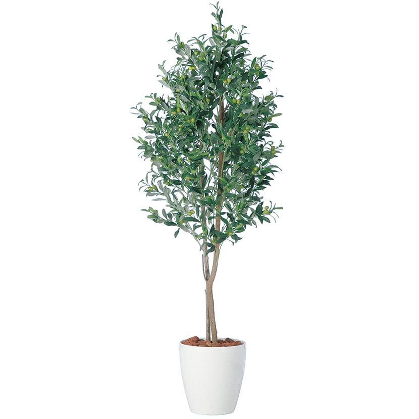 観葉植物 人工 樹木 ライプオリーブデュアル 高さ1800mm Lサイズ 鉢:RP-300