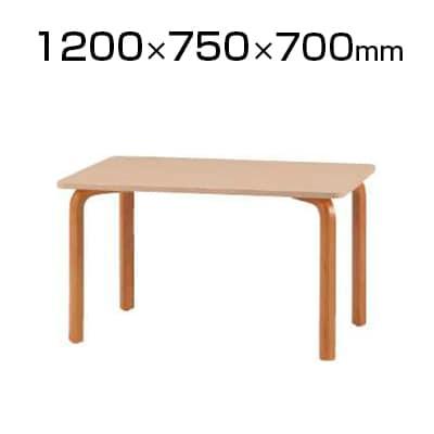 食堂用テーブル 幅1200×奥行750×高さ700mm 木製