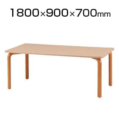 食堂用テーブル 幅1800×奥行900×高さ700mm 木製
