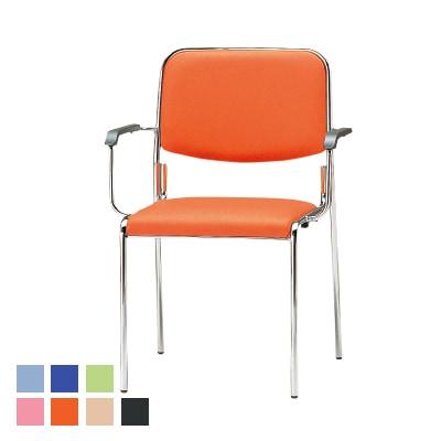 FSXシリーズ ミーティングチェア 会議椅子 4本脚タイプ 肘付き レザーチェア
