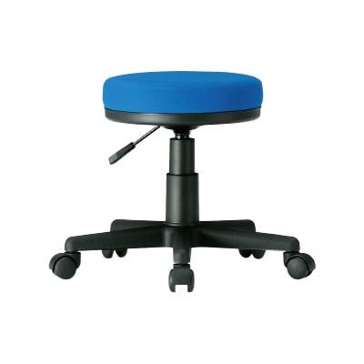 丸椅子 作業椅子 診察椅子 スツール 病院 布張り ブルー / FTY-25