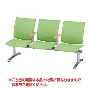 LPシリーズ ロビーチェア 3人用 中肘付き レザー張り / LP-3AL