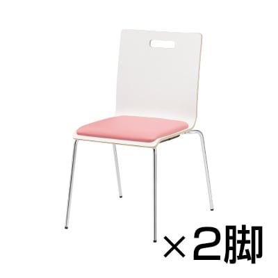 【2脚セット】 会議椅子 おしゃれ PMシリーズ リフレッシュチェア 4本脚タイプ レザーチェア / PM-50MPL