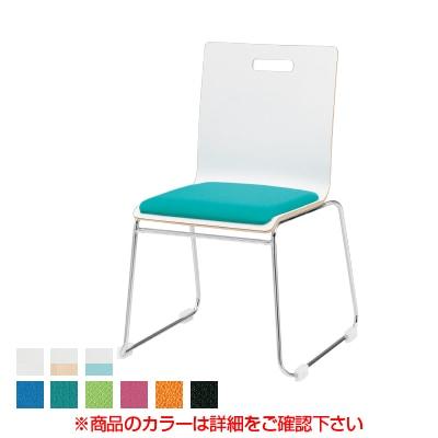 会議椅子 ミーティングチェア PMシリーズ リフレッシュチェア ループ脚タイプ 布張り 国産
