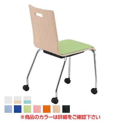 会議椅子 ミーティングチェア PMシリーズ リフレッシュチェア キャスター脚タイプ レザー張り