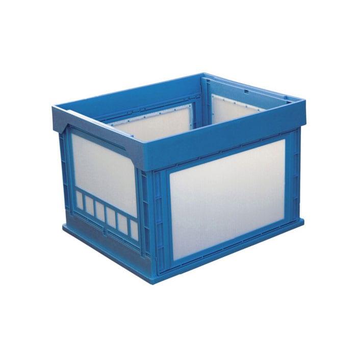 KUNIMORI プラスチック折畳ミコンテナ パタコン N-107 ブルー 50190-N107-B