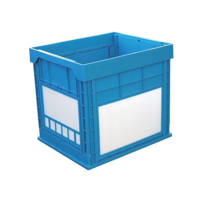 KUNIMORI プラスチック折畳ミコンテナ パタコン N-134 ブルー 50680-N134-B