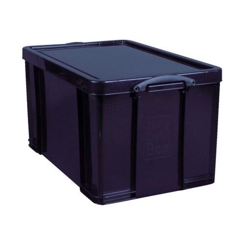 RUP コンテナ Really Useful Box 84L ブラック 84BLK