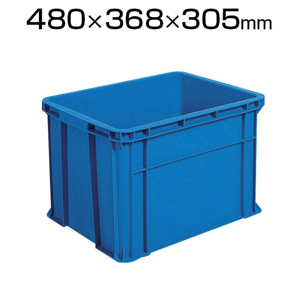 TRST40  | リサイクルコンテナ40L ダークブルー 収納ボックス コンテナボックス トラスコ中山 (TRUSCO) / 276-2595