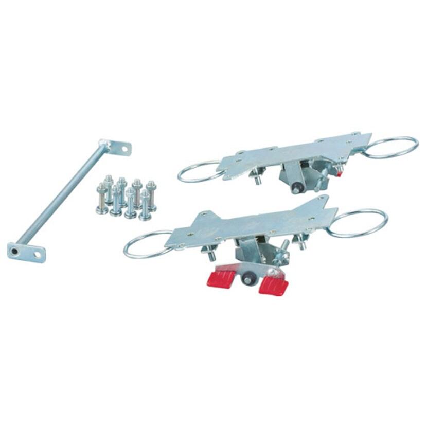 [オプション]TRUSCO 連結型樹脂製台車 ルートバン(メッシュタイプ) MPK-600番台用 リング式自在4輪ストッパー K-600JRS-4