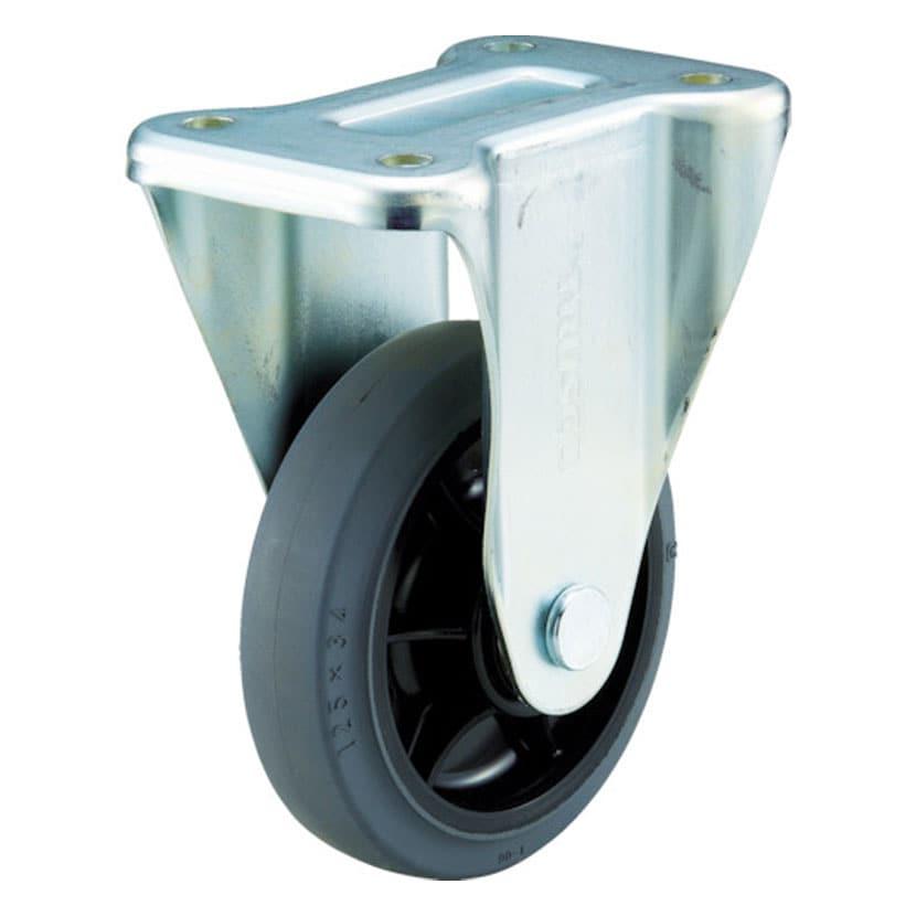 [オプション]TRUSCO グランカート用 固定キャスター直径100mm 導電ゴム車 TYSK-100WE