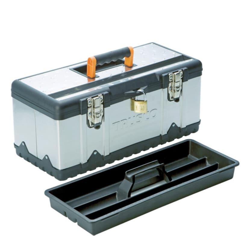 TSUS-3024L | ステンレス工具箱 Lサイズ 幅582×奥行298×高さ255mm トラスコ中山 (TRUSCO)/ 389-4878