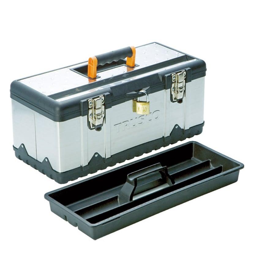 TSUS-3025M | ステンレス工具箱 Mサイズ 幅470×奥行238×高さ203mm トラスコ中山 (TRUSCO)/ 389-4860