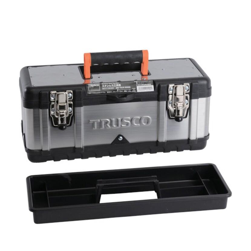TSUS-3026S | ステンレス工具箱 Sサイズ 幅395×奥行180×高さ170mm トラスコ中山 (TRUSCO)/ 389-4851