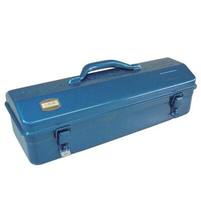 Y-410-B | 山型工具箱 国産 ブルー 幅433×奥行168×高さ173.5mm トラスコ中山 (TRUSCO)/ 162-4831