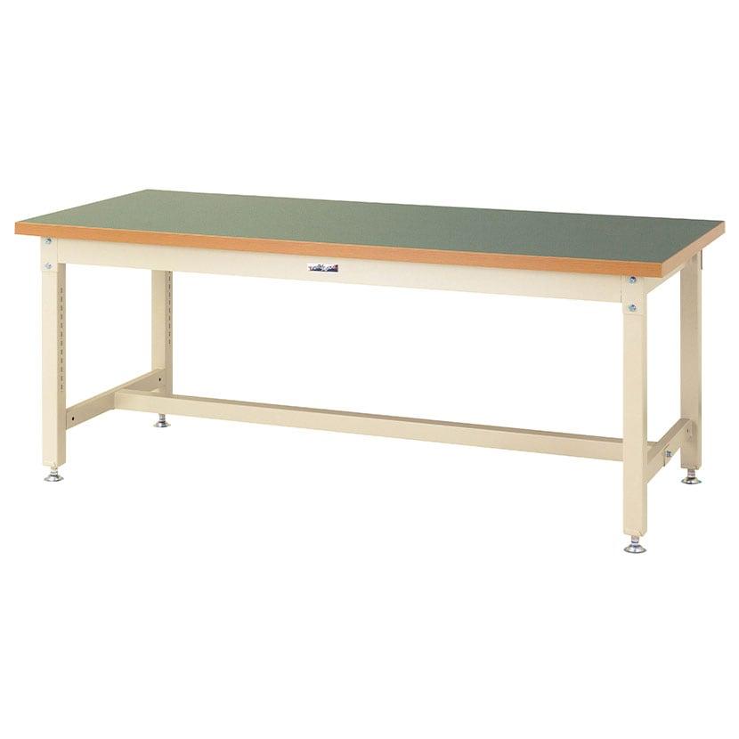 山金工業 ワークテーブル スーパータイプ 塩ビシート天板 SSR-1890 幅1800×奥行900×高さ740mm