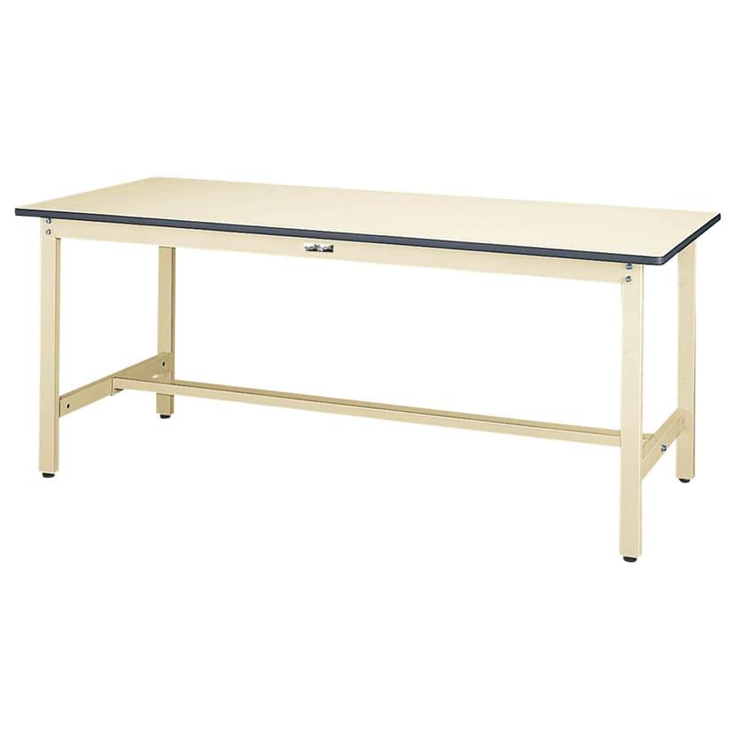 山金工業 ワークテーブル300シリーズ 固定式 塩ビシート天板 SWR-775 幅750×奥行750×高さ740mm