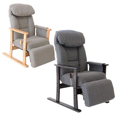 梢 フットレスト付高座椅子 幅630×奥行800-1360×高さ970/1000/1030/1060 座面高さ380/410/440/470mm